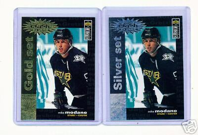 1995-96 Ud Cc Mike Modano Crash Gold & Silver Cards