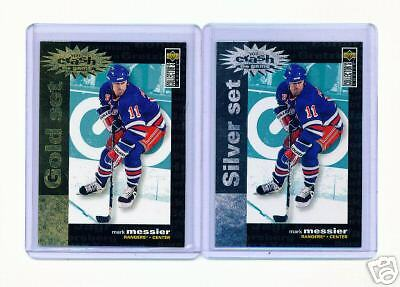 1995-96 Ud Cc Mark Messier Crash Gold & Silver Cards