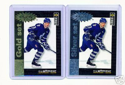 1995-96 Ud Cc Doug Gilmour Crash Gold & Silver Cards