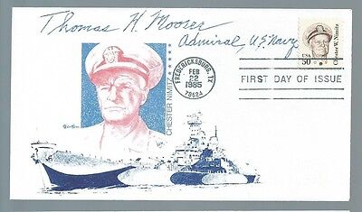Naval Aviator Admiral Thomas Moorer signed cover