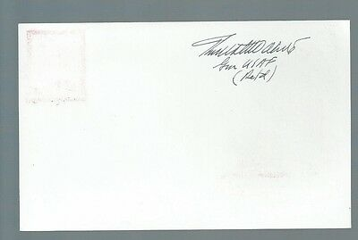 USAF General Thomas White signed postcard
