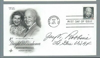 WWII ACE Jay Robbins signed cover