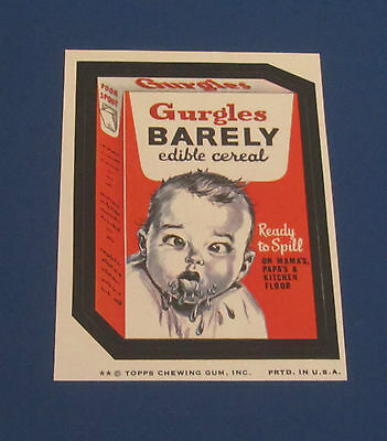 73 WACKY PACKAGES SERIES 7 TB GURGLES BARELY     NM/MT