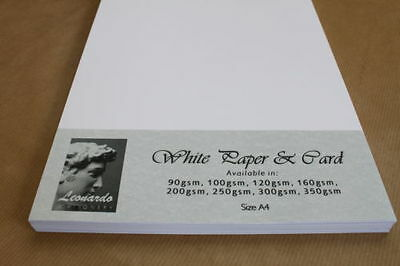 QUALITY A5 WHITE CARD SAMPLE PACKS. SMOOTH OR RECYCLED 160gsm, 200gsm, 300gsm.