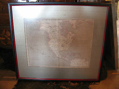 Antique 19th Century Map of North America Engraved by Kirkwood & Sons Edinburgh