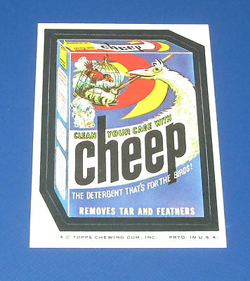73 WACKY PACKAGES SERIES 8 TB CHEEP DETERGENT NM/MT