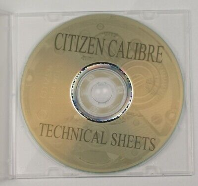 Citizen information CD TECHNICAL SHEETS HUNDREDS CALIBRES watchmakers reference