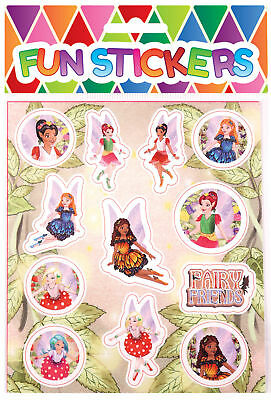 6 Fairy Sticker Sheets - Pinata Toy Loot/Party Bag Fillers Wedding/Kids