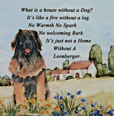 LEONBERGER new glossy tile plaque Dog lover gift Sandra Coen Collectables
