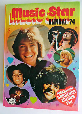 Rare Vintage Uk Book - Music Star Annual 1974 - Cassidy/donny/slade/sweet/bowie