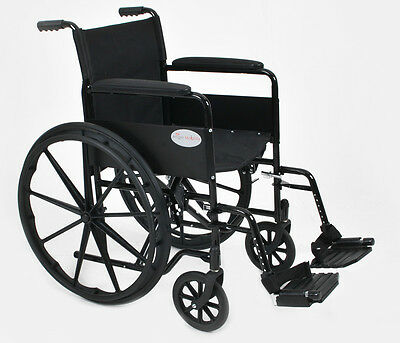 New Luxury Folding Self Propel Wheelchair With Detachable Flip Up Footrests