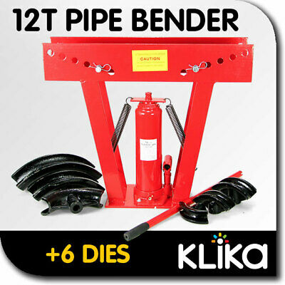 NEW 12 TON HYDRAULIC PIPE BENDER with 6 DIES BENDING JACK MACHINE