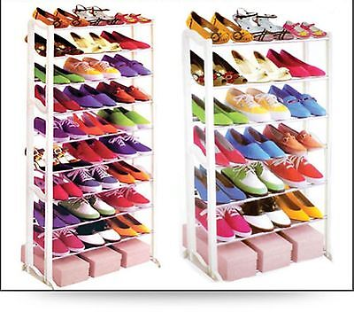 7 & 10 Tiers Shoe Rack Stand, Easy to Assemble, 21 & 30 Pairs Storage Organiser