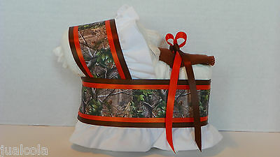 Hunting Camo Camouflage Boy Diaper Bassinet Baby Shower Table Centerpiece New