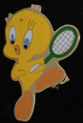 Tweety Bird Pin ~ Tennis ~ Looney Tunes ~ vintage 80's