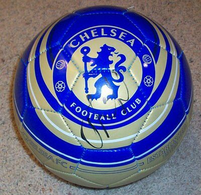 BRANISLAV IVANOVIC SIGNED CHELSEA FC FOOTBALL wEXACT PROOF AUTOGRAPH SOCCER BALL