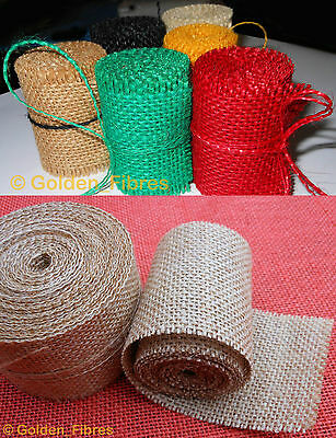 2M Natural Jute Hessian Burlap Ribbon Rustic Weddings Belt Strap Craft C60S