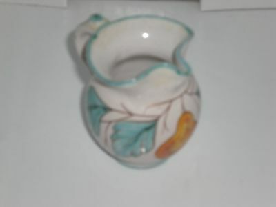 Vintage Ceramic Mini Pottery Floral Pitcher from Italy,,,EUC!!!!!!!