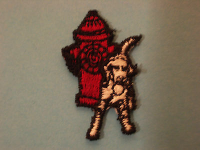 Dog At Fire Hydrant Embroidery Applique Patch Emblem Lot (40 Dozen), 1.50-Inches