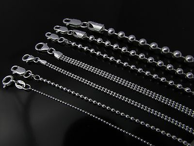 Sterling Silver necklace Ball Bead Chain {1mm,2mm,3mm,4mm,5mm} Made in Italy 925