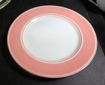 "Pink & White Fitz & Floyd La Ronde 7-1/2"" Salad Plates"