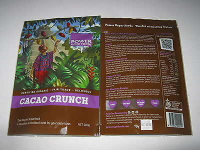 POWER SUPER FOODS 400g Raw Pure Cacao Nibs CERTIFIED ORGANIC (Mayan Superfood)
