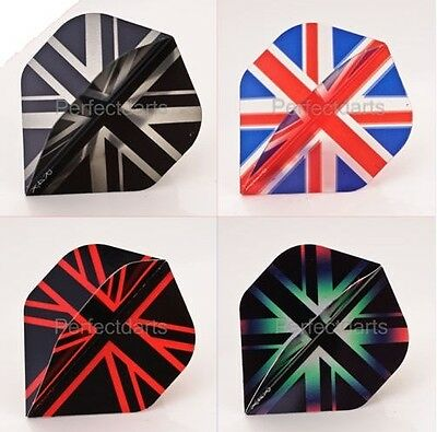 10 SETS RUTHLESS R4X UNION JACK DART FLIGHTS - 7 Designs - Extra Tough Strong
