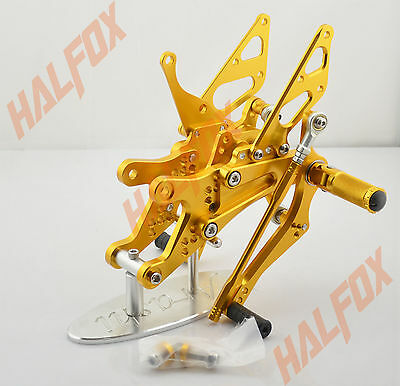 Gold cnc Rearset Foot pegs Rear set For Yamaha YZF R1 R1000 2004-2006 2005