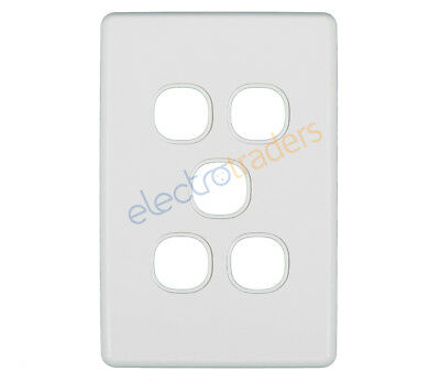 Clipsal C2035VH 5 Gang Grid Plate and Cover Classic Series