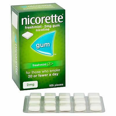 Nicorette Chewing Gum 2mg Freshmint - 105 Pieces