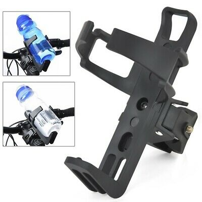 Black MTB Bicycle Plastic Water Bottle Holder Cage with Quick Release Clamp Bike