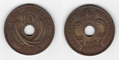 EAST AFRICA – 10 CENTS COIN 1935 YEAR KM#19 GEORGE V