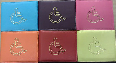 Disabled Blue Parking Badge Holder Protector Cover Wallet PU Leather New