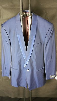 TOP Designer Smoking Jacke Sakko TZIACCO blau Mens dress code jacket Gr. 52 L