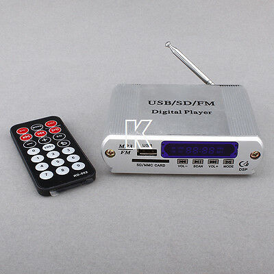 DC12V  A5 USB SD MP3 Player FM Radio With Remote Control