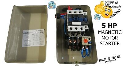 Magnetic Motor Starter Control 5 HP Single Phase 220/240V 24-34A, on/off switch