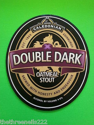 Beer Pump Clip - Caledonian Double Dark Oatmeal Stout