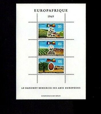 Dahomey - 1969 - Europa Africa - Cotton - Oil Palm - Industry +  Mint - Mnh S/s!