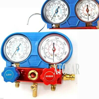 HVAC R134A Manifold Dual GAUGES A/C Refrigeration AC Auto Diagnostic Meter