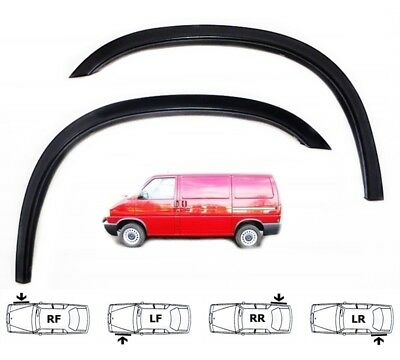 90-03 Vw Transporter T4 Mk IV New Wing Wheel Arch Trim set 4pcs BLACK MATT sale