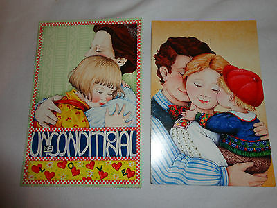 "Mary Engelbreit Scrapbook Papercraft Blank Note Cards ""Family"" Lot Of 2"