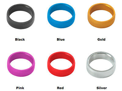 5 x SETS TARGET DART STEM SLOT LOCK RINGS - 6 Colours- For Hole Punched Flights