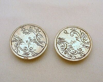 Coin Silver Cuff Links Vintage Cufflinks Engraved