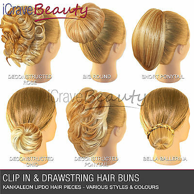 Hair Extensions Hair Piece Clip in Hair Bun Wigs Ponytail Scrunchie Drawstring
