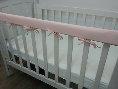 1 x Baby Cot Rail Cover Crib Teething Pad Soft Baby Pink 100% Cotton