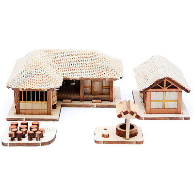 HO Scale Korean Traditional Thatched House Model Set Ⅲ