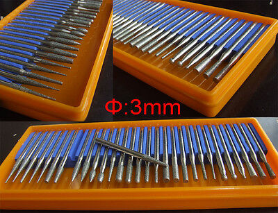 2 set Diamond Burrs for Jewelry Grinding Nail Drill Bits engraver grinding pin