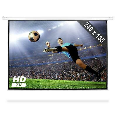 "ECRAN MANUEL VIDEO PROJECTEUR 240x135cm PROJECTION 16:9 HDTV 108"" DE DIAGONALE"