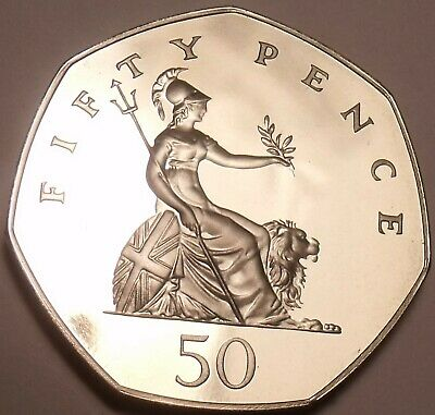 Huge Cameo Proof Great Britain 1992 50 Pence~Excellent~Free Shipping
