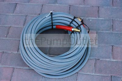 """100' Hot Water Pressure Washer Hose with Quick Connects 6000 PSI 3/8"""" 2 Wire"""